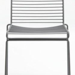 Hee dining stol, grå - HAY