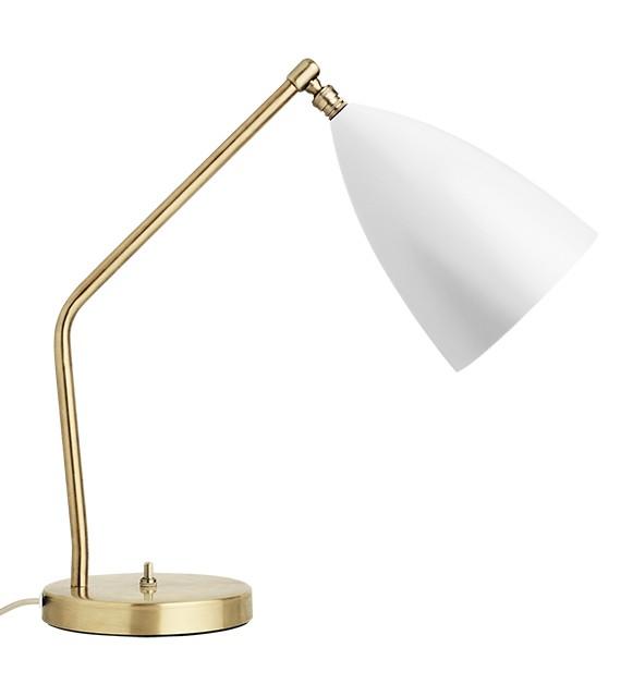 Grossman Grasshopper bordlampe hvid