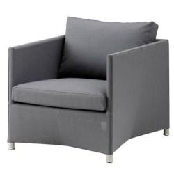 Diamond lounge stol grå inkl. hynde - Cane-Line