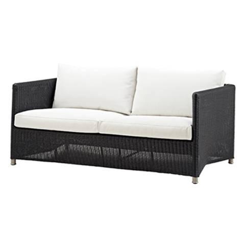 Diamond sofa 2 pers. grafit inkl. hynde - Cane-Line