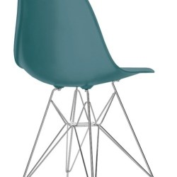 Eames Plastic Chair (DSR) - Blågrøn