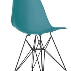 Eames Plastic Chair (DSR) - Sort stel