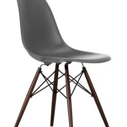 Eames Stol (DSW) - Mørkbejdset - umbragrå