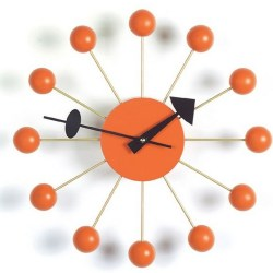 Vitra - Ball Clock - Orange (vægur)