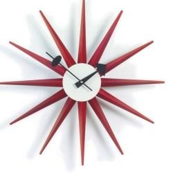 Vitra - Sunburst Clock - rød - (vægur)