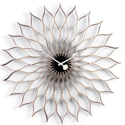 Sunflower clock - ahorn/sort