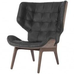 Mammoth Chair, Fluffy, Sort - Læder