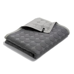 Hay - Mega Dot Quilt - Dark grey 235x245 cm.