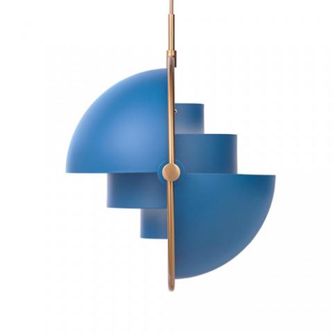 GUBI - Multi-Lite pendel - blå/messing