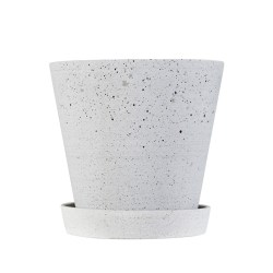 Hay - Flowerpot with Saucer - grå (X-large)