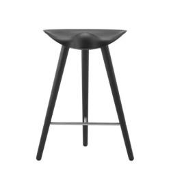 By Lassen - ML 42 barstol- H. 69- sortbejdset bøg