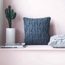 Livink Braid pillow - Dark Grey