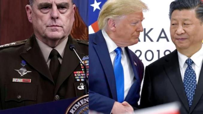 New book alleges that US Army chief of Staff, General Milley secretly called Chinese officials to warn them that Trump would attack China in his final days in office