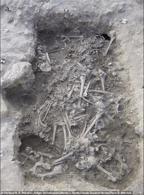 Mass grave of 25 Christian soldiers who were