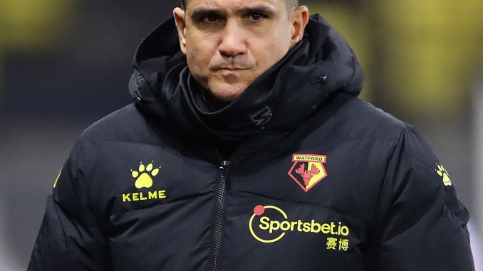 Watford coach, Xisco Munoz becomes the first manager to be sacked in the Premier League this season