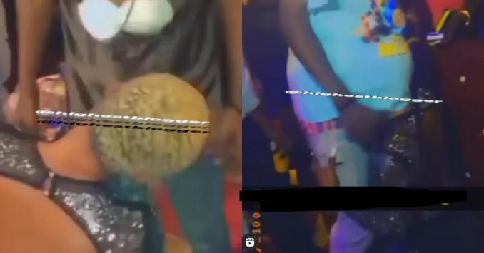 Lady apologizes to her parents after video of her giving blowj*b to men in a nightclub went viral (videos)