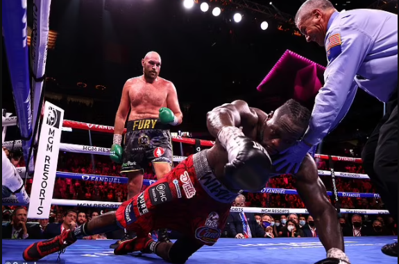 Deontay Wilder is taken to hospital after being beaten by Tyson Fury