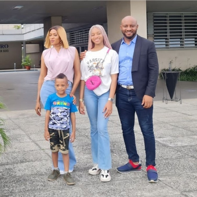 Yul Edochie and wife drop off their daughter as she begins her university education (photos)