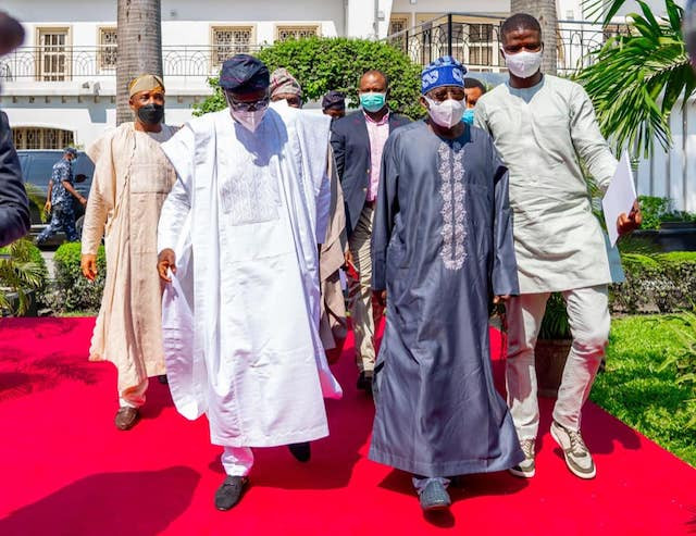 I am standing before you hale and hearty. I thank God - Tinubu says as Lagos state govt throws welcome-back party for him (photos)