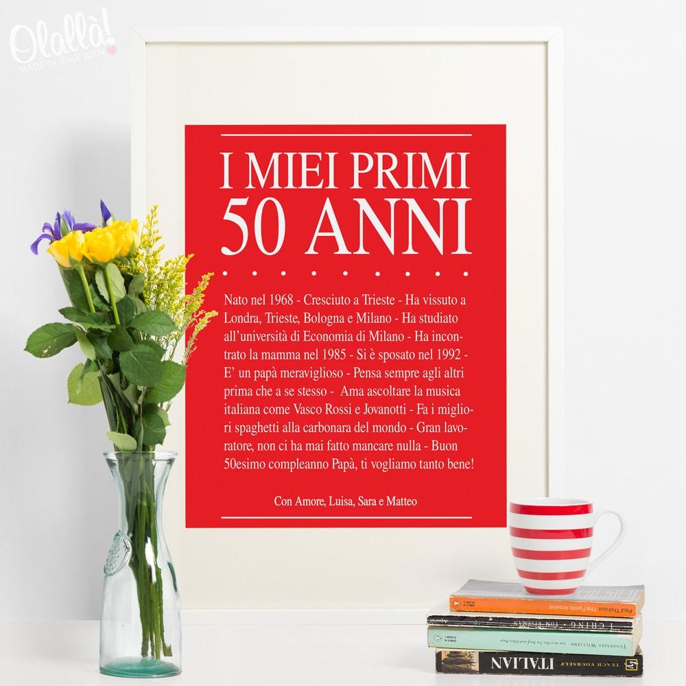Cosa Scrivere Invito Compleanno 50 Anni
