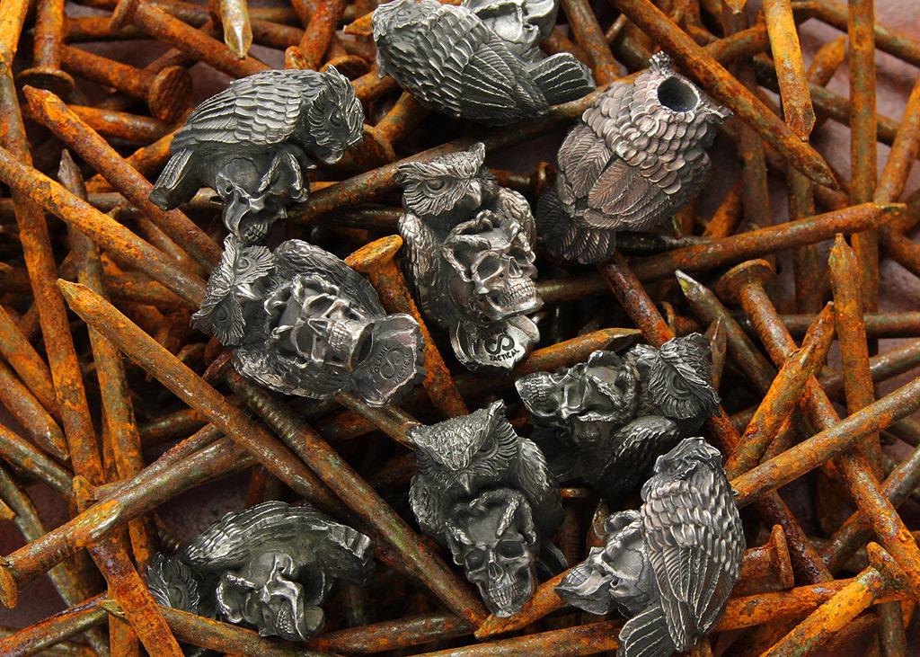 Skullhunter Owl Bead
