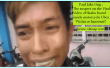 Paul Jake Ong : The suspect on the Viral Video of Shabu found inside motorcycle Ubox