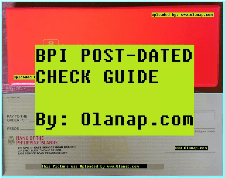 Post-dated checks BPI