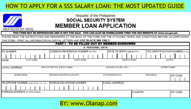 How to Apply for SSS Salary Loan