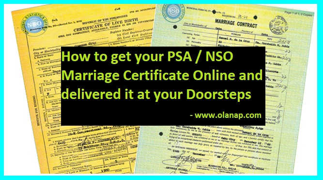 psa / nso marriage certificate online application guide | olanap