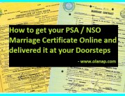 psa / nsa marriage certificate online application