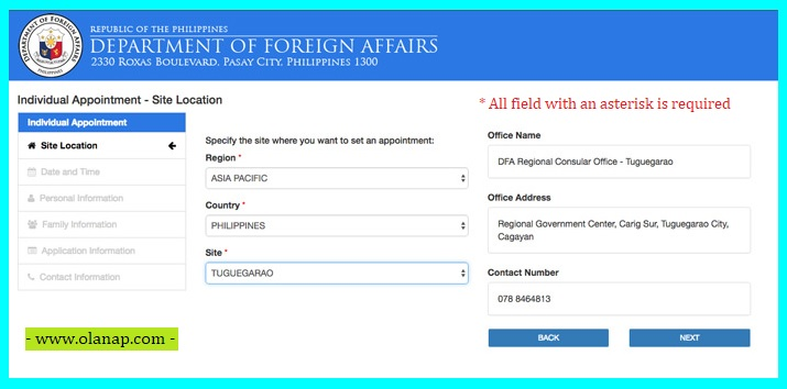how to schedule dfa online appointment for your passport