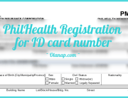 PhilHealth Online Registration for ID card number