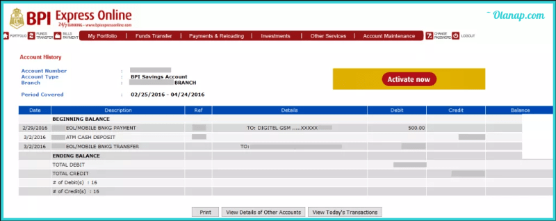How to View BPI Balance Inquiry and Transaction History 6