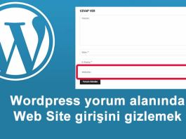 Wordpress Yorum Alanından Websitesinin Kaldırılması