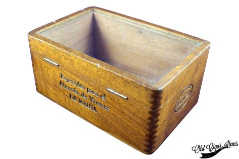 Cuban Glass top box PITA Hnos - Back side