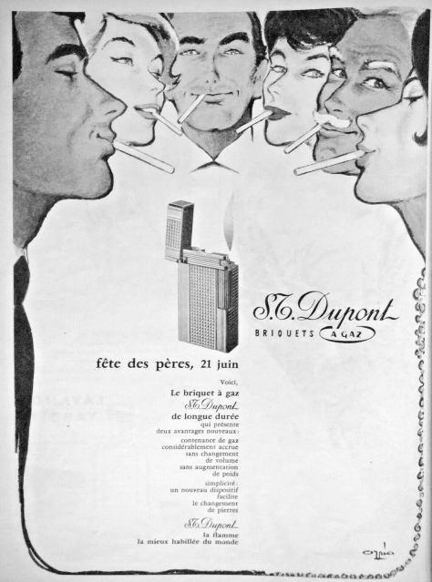 Publicité S.T.DUPONT DS - 1959