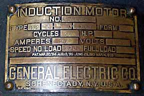 General Electric Generator and Slate Switch Meter Panel