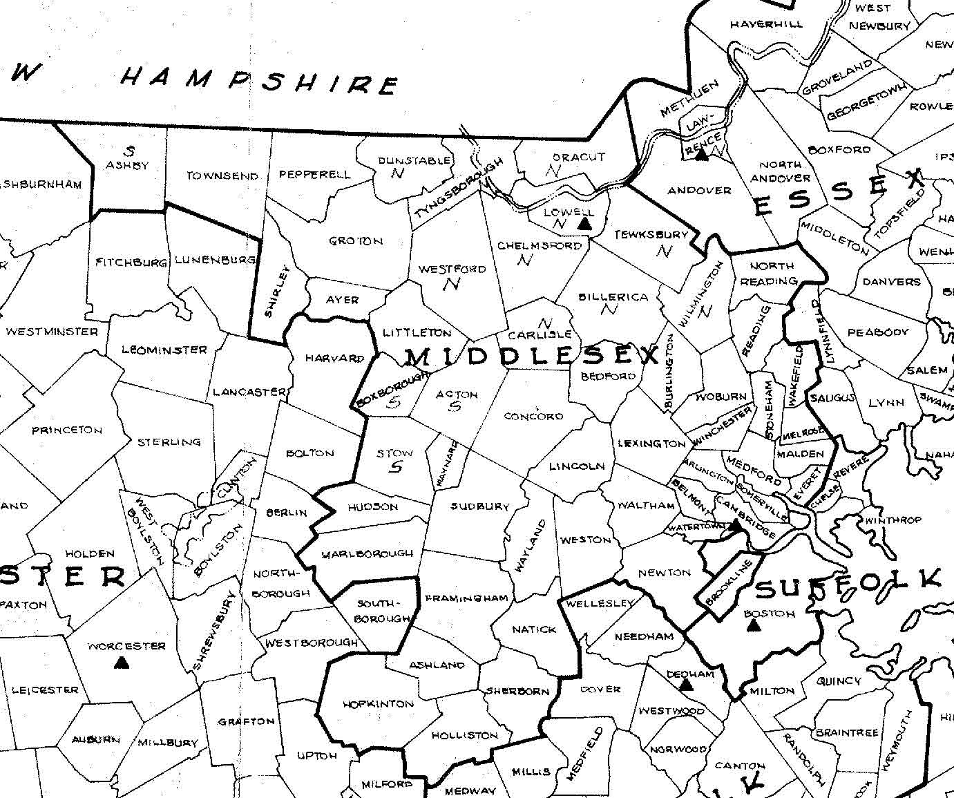 Massachusetts County Town Index List