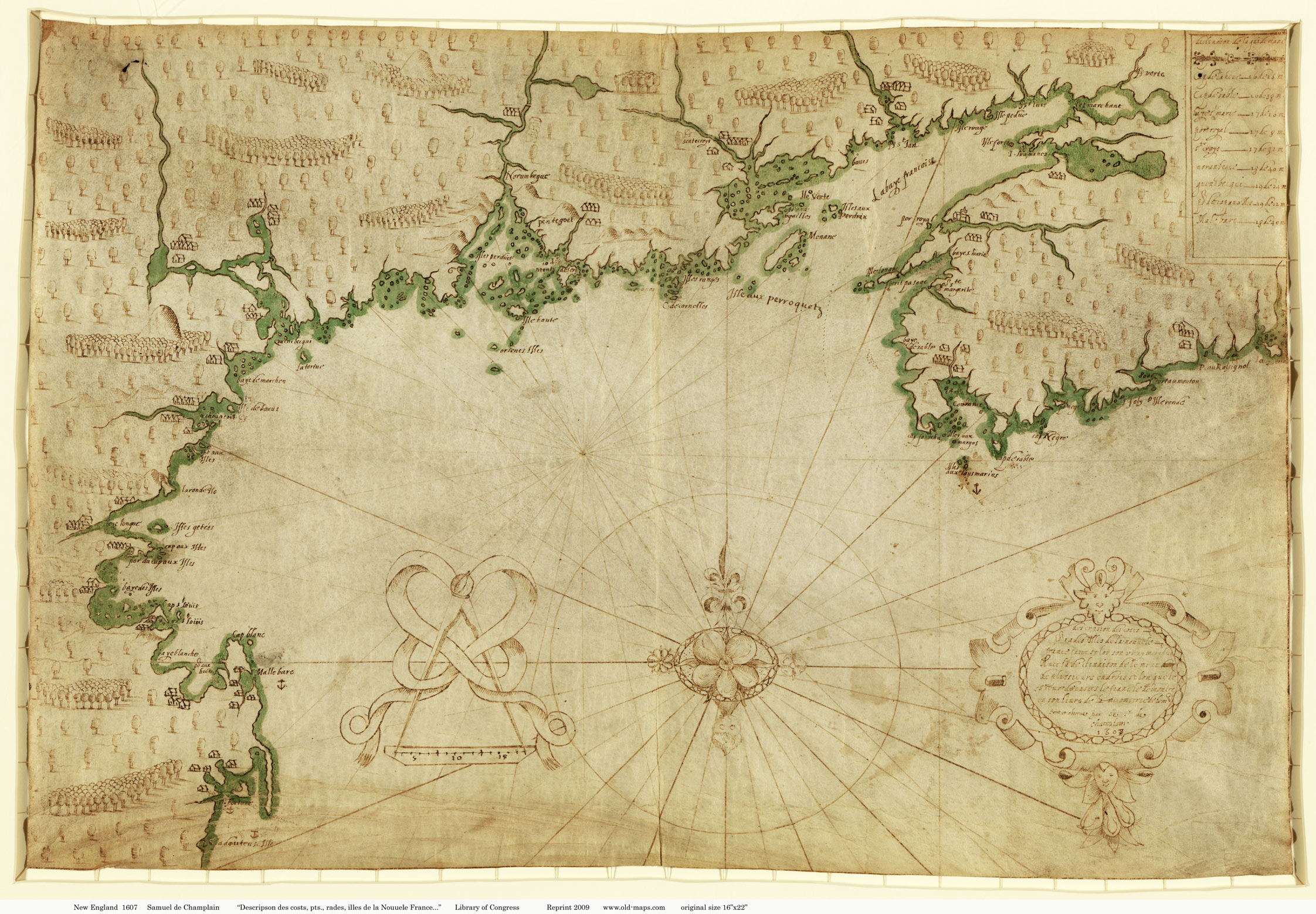 Old New England Map