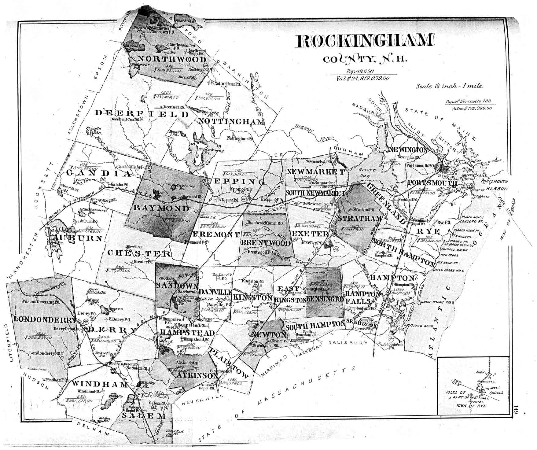 Map Of Nh And Vt