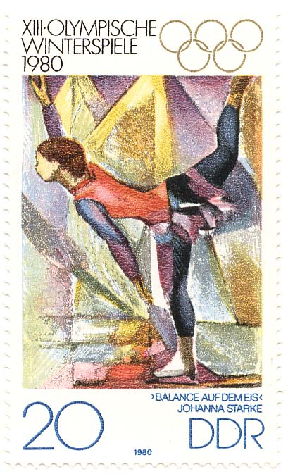 German Flag Postage Stamp