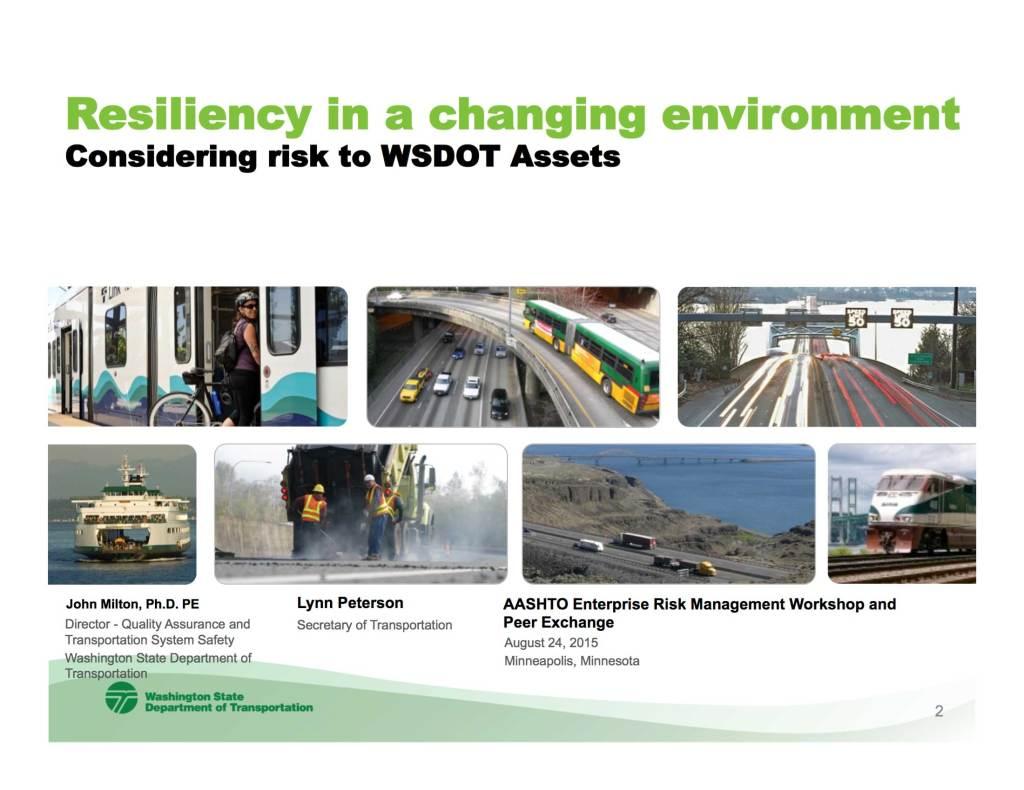 WSDOT Resiliency presentation cover slide image