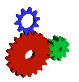 Gears made with GLUT
