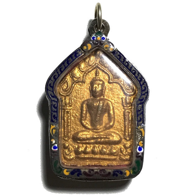 Pra Khun Phaen 15 Nuea Khaw Ta Bronze Silver Casing
