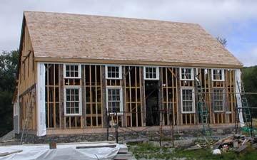 Morey-Devereaux House during reconstruction.