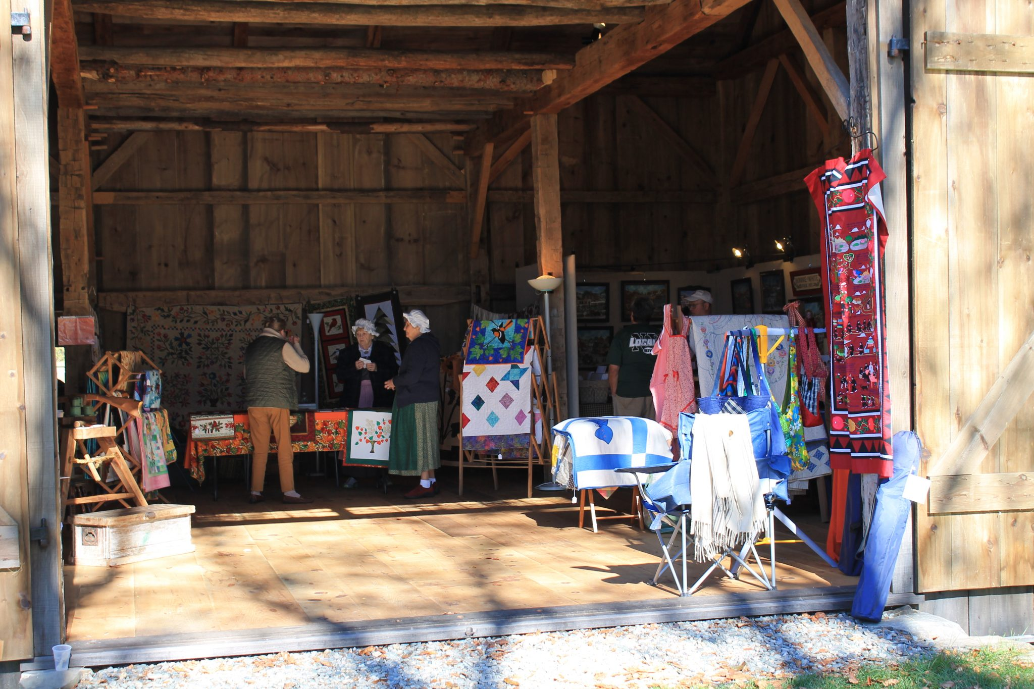 Vendors in the Barn