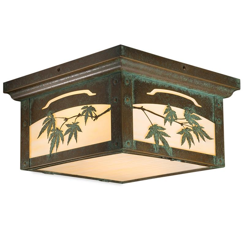 mission style flush mount ceiling light