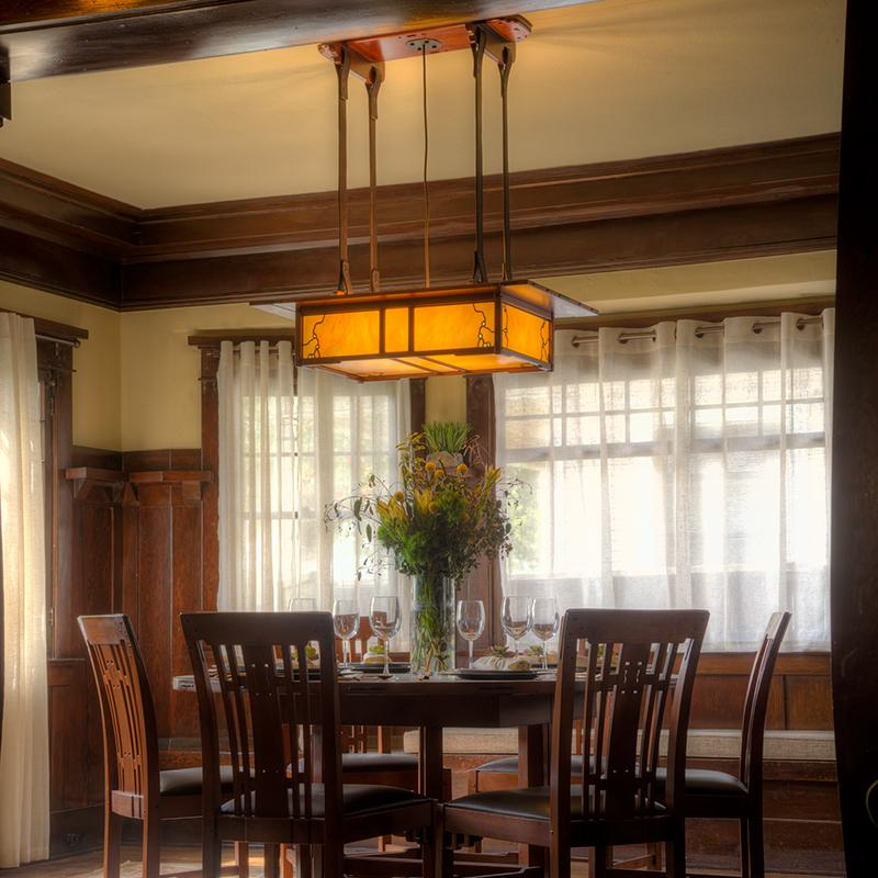 craftsman dining room chandelier