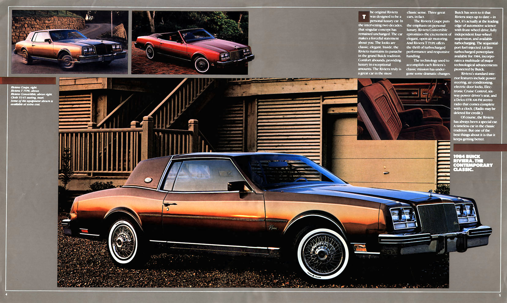 Riviera page from 1984 Buick brochure, linked from the Old Car Manual Project's amazing brochures section.