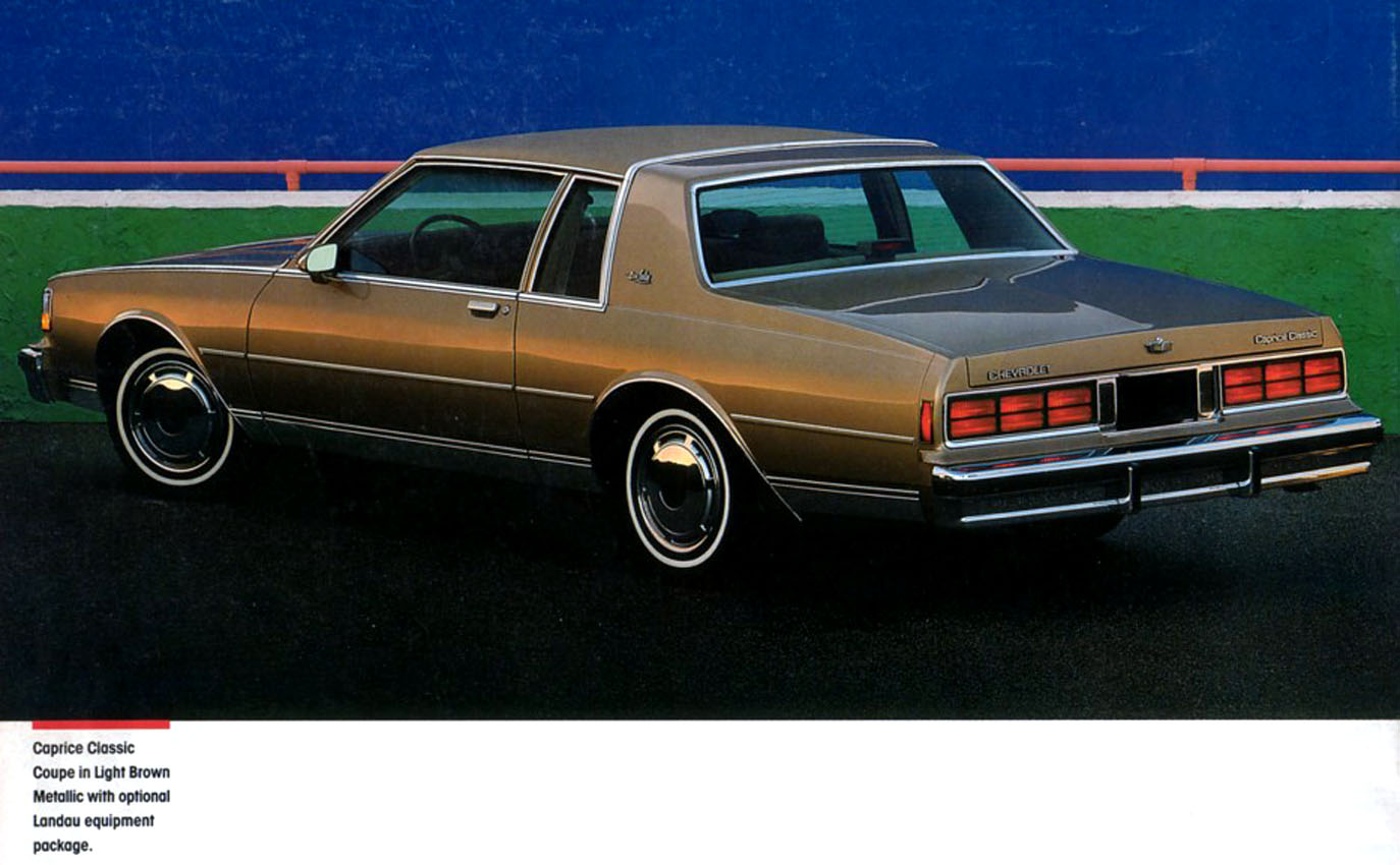 1987 Chevrolet Caprice Classic Coupe, linked from the Old Car Manual  Project's amazing brochures section.